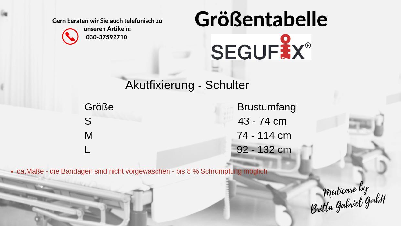Größentabelle - Segufix - Akutfixierung - Schulter