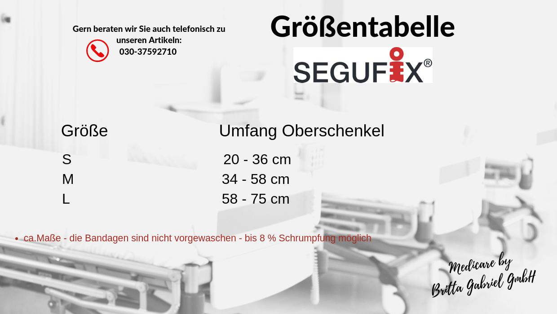 Größentabelle - Segufix - Oberschenkelhalterung