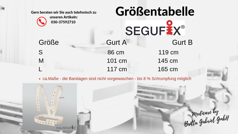 Größentabelle - Segufix - Schulterhalterung